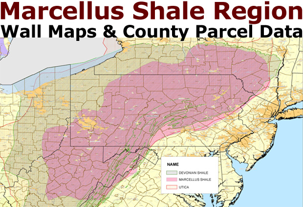 Marcellus Map Parcel Data US Shale Plays - Map of us shale plays