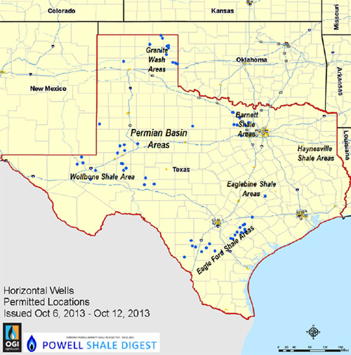 Texas New Oil & Gas Well Permit Map